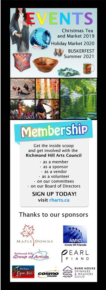 RHARTS - Membership Bookmark