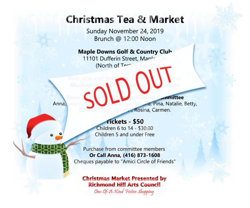 Richmond Hill Arts Council Christmas Tea & Market 2019