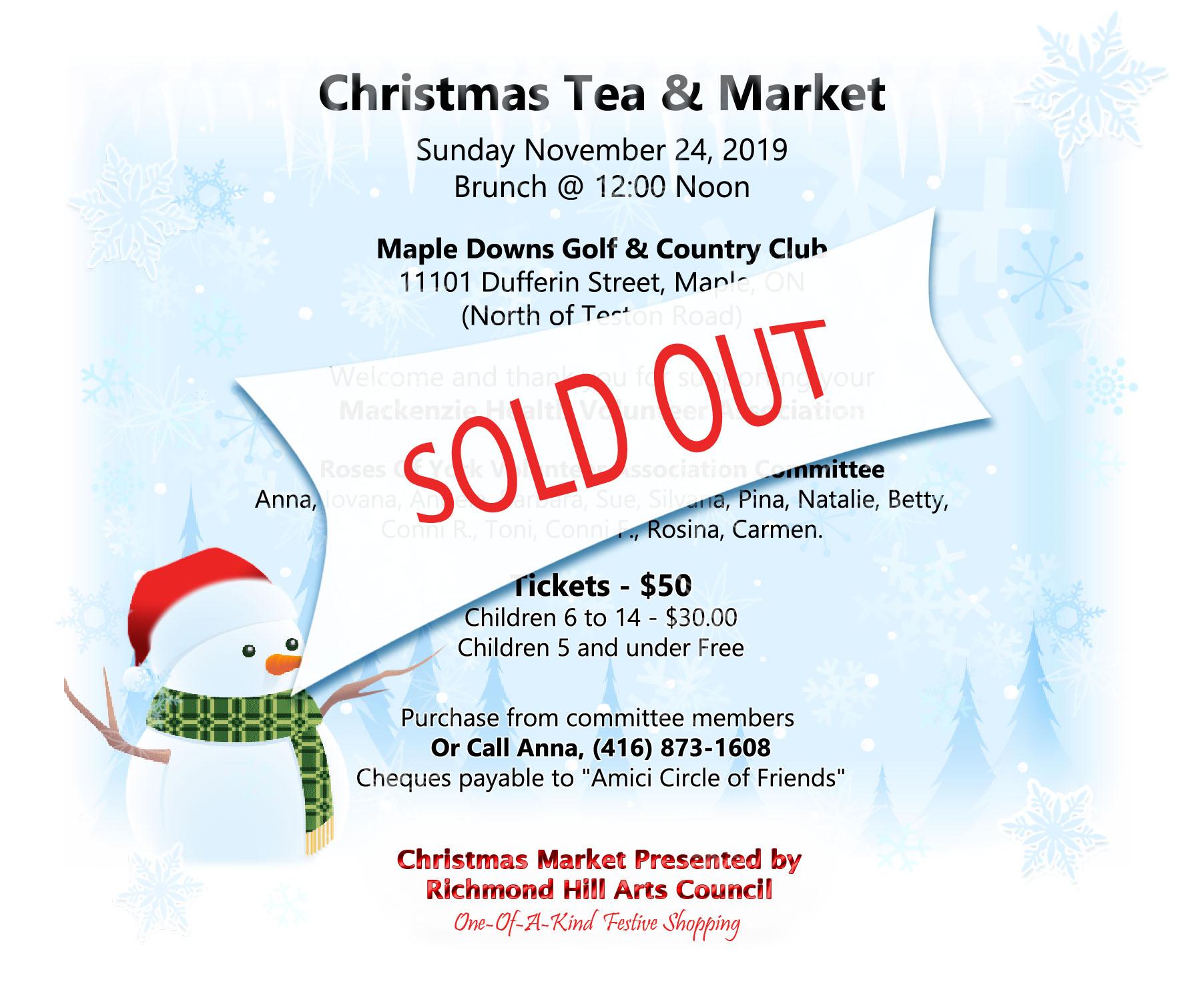 Christmas Tea And Market